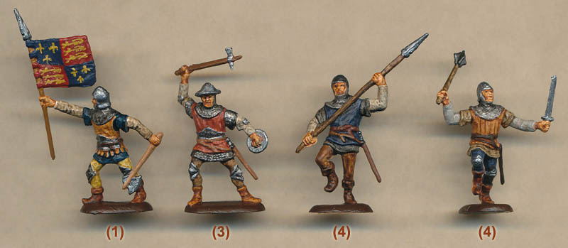 Plastic Soldier Review - Accurate Hundred Years War English Men-At-Arms
