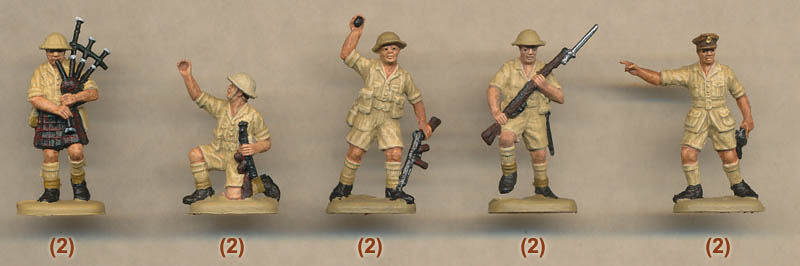 Plastic Soldier Review - Esci British 8th Army Soldiers