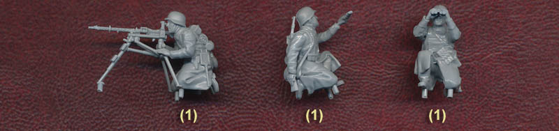 All Figures Are Supplied Unpainted Numbers Of Each Pose In Brackets